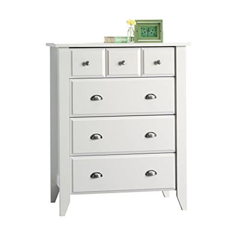 Easy Glide Drawers by Sauder Shoal Creek 4 Drawer White Furnitures Sale