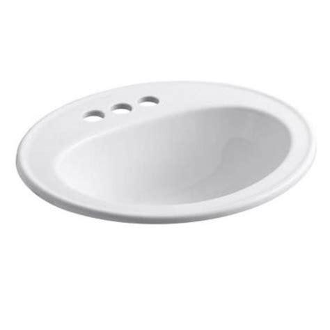 kohler top mount bathroom sinks kohler pennington top mount vitreous china bathroom sink