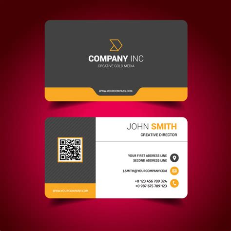 free business card templates and designs modern business card design template free