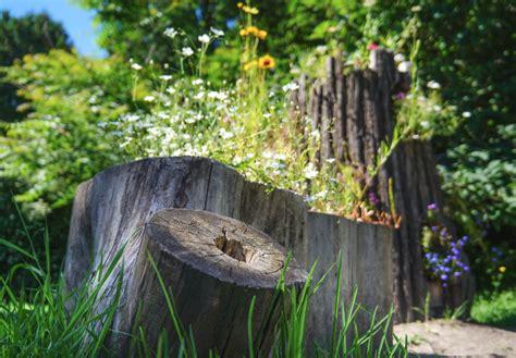 Baumstamm Deko Garten