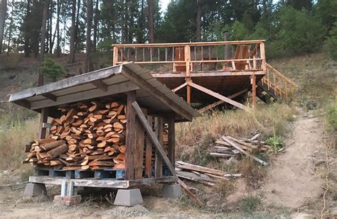 How To Build Firewood Shed by Diy Firewood Storage Shed Plans Living For