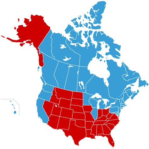 map of canada and the united states jesusland map