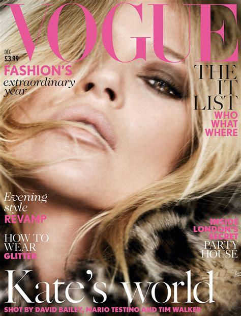 Miller Is Vogue Uks December Cover by Kate Moss Lands Vogue Uk December 2014 Cover