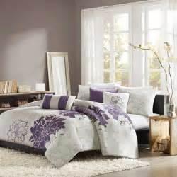 Grey Plaid Duvet Cover Shop Madison Park Lola Purple Comforters Amp Duvets The