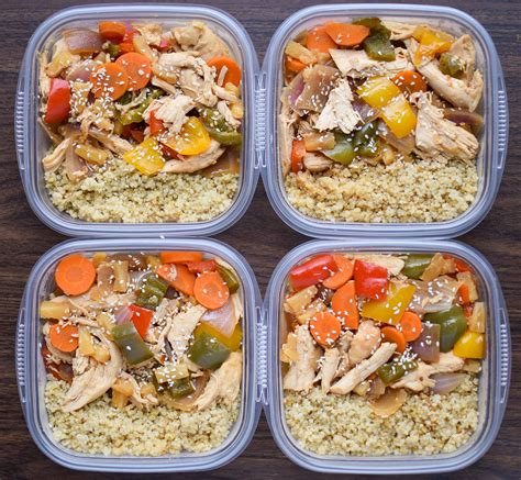 the everything healthy meal prep cookbook includes chicken primavera rosemary almond crusted pork tenderloin thai pumpkin soup korean breakfast muffins and hundreds more books meal prep cooker chicken teriyaki quinoa bowls