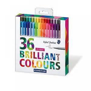 coloring pens triplus fineliner set of 36 staedtler from craftyarts co