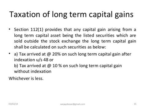 section 10 14 of income tax act computation of capital gains under income tax act 1961