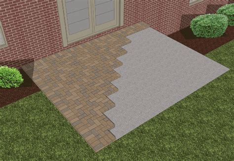 how to lay a patio with pavers how to lay pavers existing concrete patio ideas for