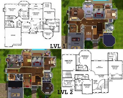 sims floor plans sims mansion floor plans also house blueprints moreover