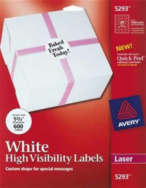 avery 5293 template laser and inkjet labels