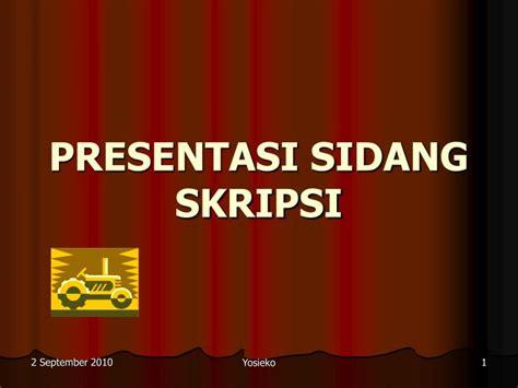 ppt sidang skripsi ppt presentasi sidang skripsi powerpoint presentation