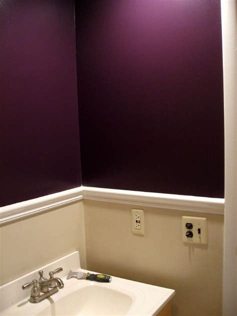 lavender bathroom walls plum with white and tan chagne accents would be good