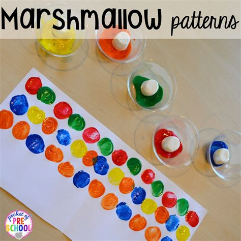pattern art for kindergarten cing centers and activities pocket of preschool
