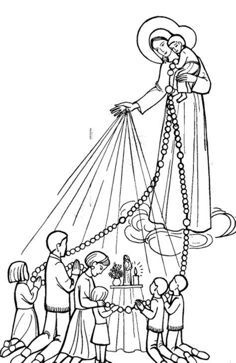 imagen virgen maria en blanco y negro para colorear dibujos de la virgen del rosario