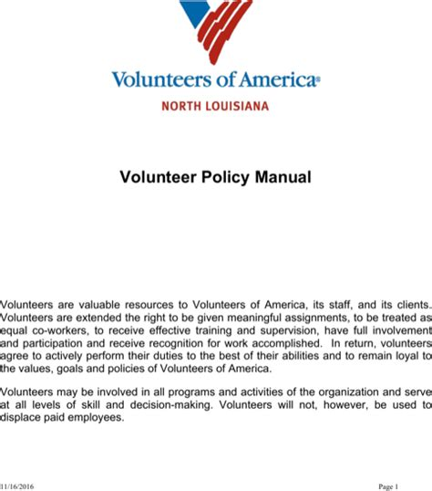 Download 7 Policy Word Templates For Free Formtemplate Volunteer Policy And Procedures Template