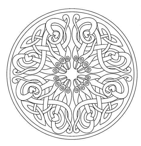 mandala 7 mandalas coloring pages for adults justcolor