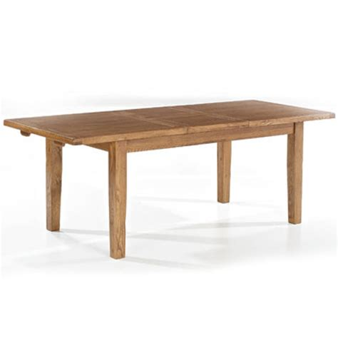 Solid Oak Extendable Dining Table Hailey Solid Oak Finish Extendable Dining Table Only 22547