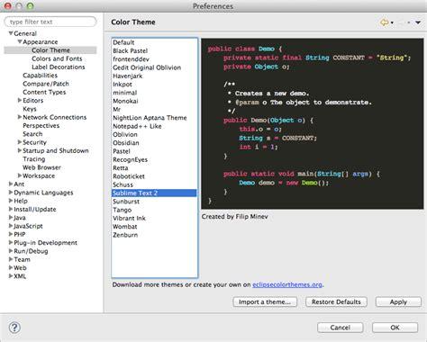 eclipse themes xml php アプリケーション開発のために eclipse に入れてるプラグインと設定 slumbers