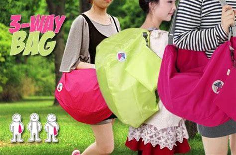 Promo 3 Way Bag 1 Tas 3 Gaya Bisa Diselempang Sandang Bahu Ransel Bah 32 korean made 3 way foldable bag promo