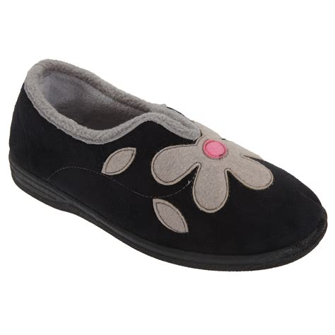 Sleepers Slippers by Sleepers Womens Imitation Suede Flower