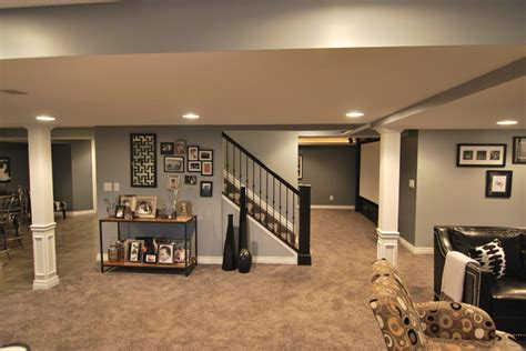 macomb twp basement contemporary basement detroit