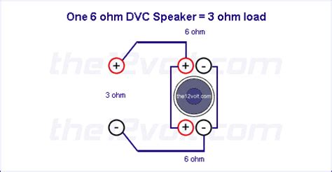 subwoofer wiring diagrams   ohm dual voice coil dvc speaker