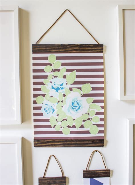make your own hanging l tutorial wood and leather picture frames going home to