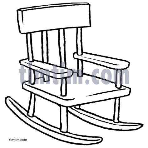 kids rocking chair drawing free drawing of rocking chair bw from the category