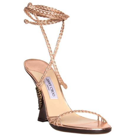 pink lace up sandals jimmy choo pink lace up wedge sandal for sale at 1stdibs