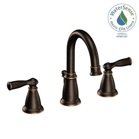 kitchen sink faucets moen moen banbury 8 in widespread 2 handle bathroom faucet in mediterranean bronze ws84924brb the