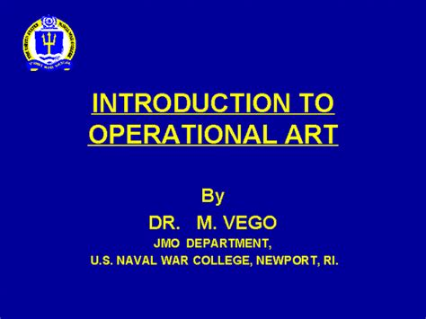 introduction to art introduction to operational art docslide