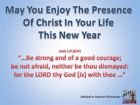 happy new years for settled in heaven ministries