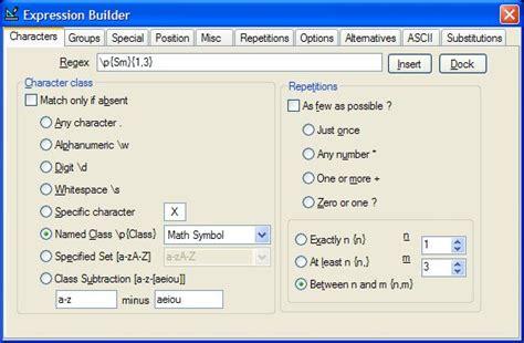 online regex pattern maker expresso regular expression tool