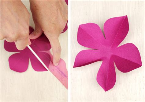 Flower Paper Craft Template - icing designs diy paper flowers