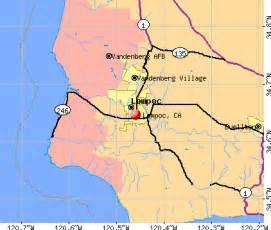 lompoc california ca 93436 profile population maps