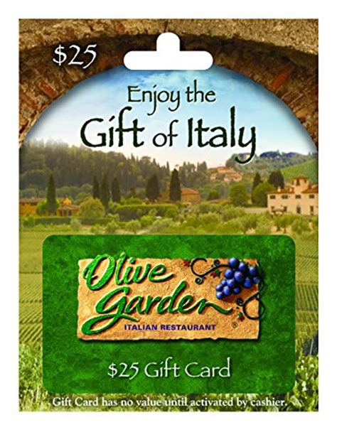 Where Can Olive Garden Gift Cards Be Used - olive garden 25 gift card shop giftcards