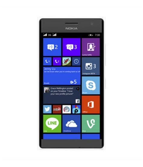 mobile phone nokia lumia nokia lumia 730 dual sim white mobile phones at low