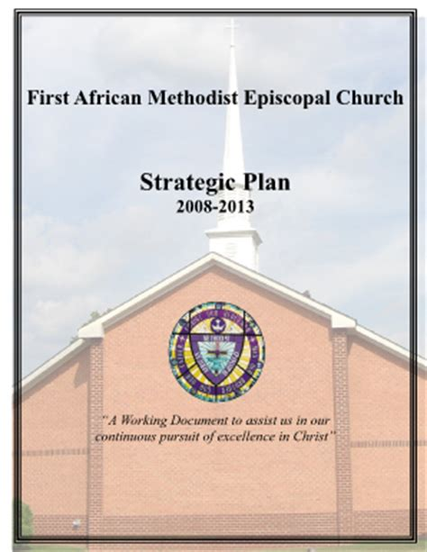 church strategic plan template fillable fill online