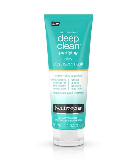 deep cleaning deep clean 174 purifying clay face mask cleanser neutrogena 174