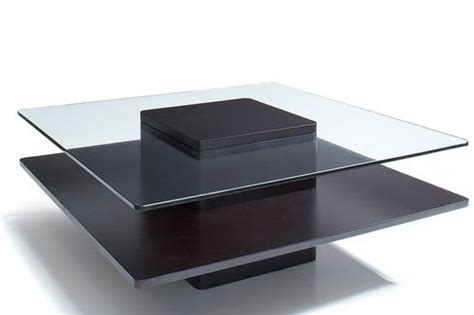 square wood and glass coffee table drawer wood storage