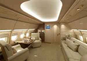 Private Jet Interiors Incredible Custom Private Jet Interiors With Modern White