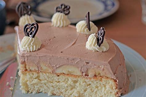 sahne kuchen rezepte bananen sahne kuchen rezept mit bild henriettinchen