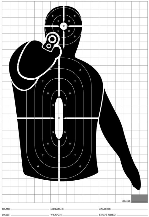 free printable tactical targets 12 pack black paper shooting paper targets target for