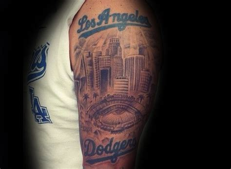 la tattoos designs 60 los angeles dodgers tattoos for baseball ink ideas