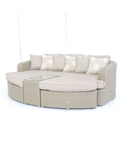 Outdoor Sofa Daybed by Weather Proof Resin Wicker Outdoor Sofa Daybed Set