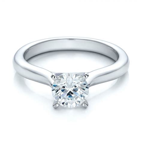 Contemporary Engagement Rings by Contemporary Solitaire Engagement Ring 100401 Bellevue