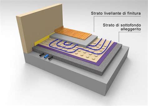 stratigrafia riscaldamento a pavimento calcestruzzo alleggerito per sottofondi