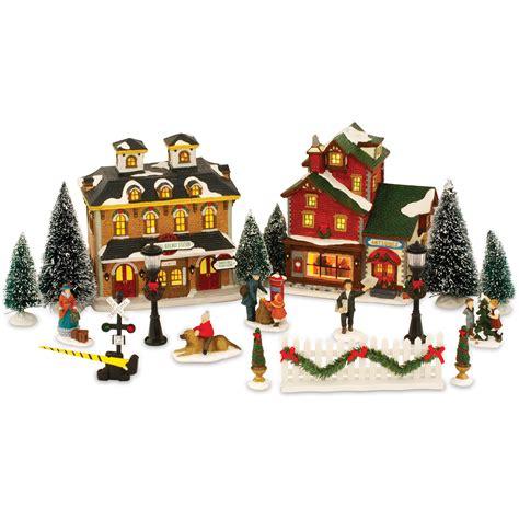 lighted christmas village sets ceramic lighted christmas village set festival collections