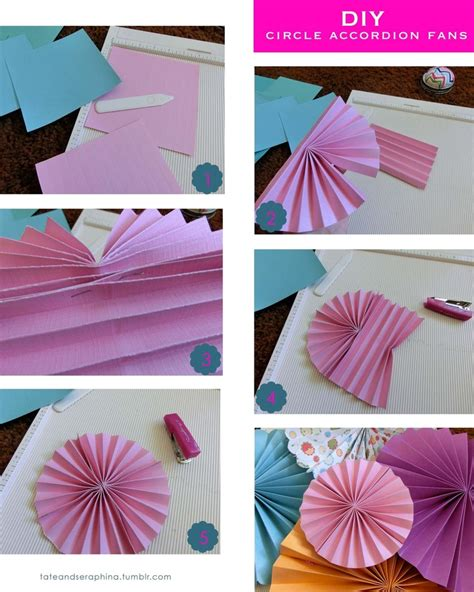 How To Make Paper Fan Circles - how to make a paper fan circle 28 images how to make a