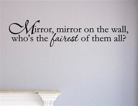 mirror mirror on the wall sticker mirror mirror on the wall who s the fairest of them all